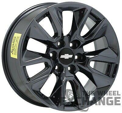 20 Chevrolet Silverado 1500 Black Chrome Wheels Rims Factory Oem 5916 Exchange 619011702270 Ebay Chevrolet Silverado Chevrolet Silverado 1500 Silverado 1500