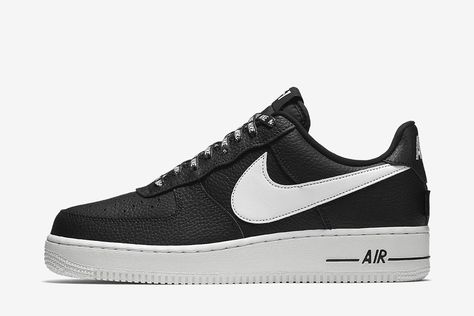 "the latest 1686f a9fca Nike Air Force 1  07 LV8 ""NBA"" (Black White) - EU Kicks  Sneaker Magazine"