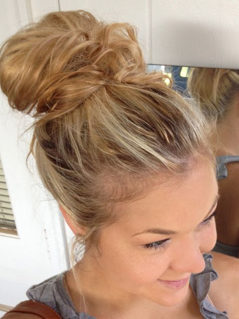 Pretty Messy Bun For The Hairrrr Pinterest Hair Hair Styles
