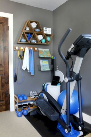 60 Cool Home Gym Ideas Decoration On A Budget For Small Room 19 In 2020 With Images Home Gym Decor Gym Room At Home Workout Room Home
