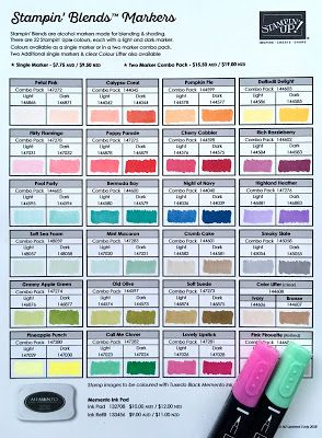 New Stampin' Blends & updated colour chart pdf | SU COLOR
