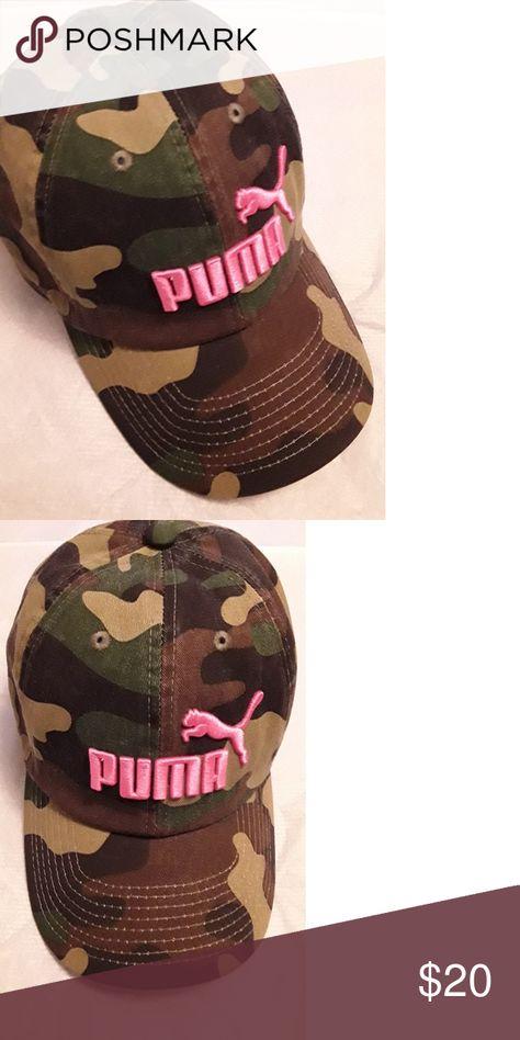 26731852afb Hat Camouflage Pink (Puma )Logo Puma Accessories Hats
