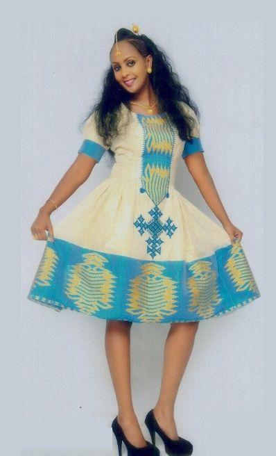 New style ethiopian dress