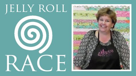 http://missouriquiltco.com -- Jenny Doan shows how to make the extremely popular Jelly Roll Race Quilt. It's a quilt top that involves 1,600 inches of fabric...