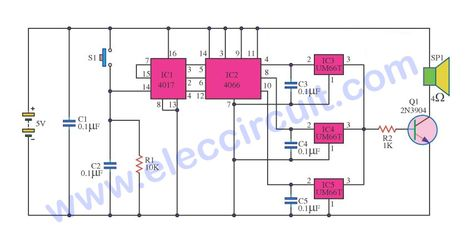 three music box circuit ideals \u2013 electronic projects circuitsmusic box automatically circuit using ic um66t
