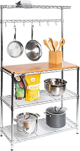New Seville Classics Baker S Rack Kitchens Solid Wood Top 14 X