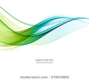 Abstract Vector Background Blue And Green Waved Lines For