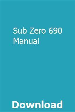 Sub Zero 690 Manual Manual Case Tractors Case Excavator