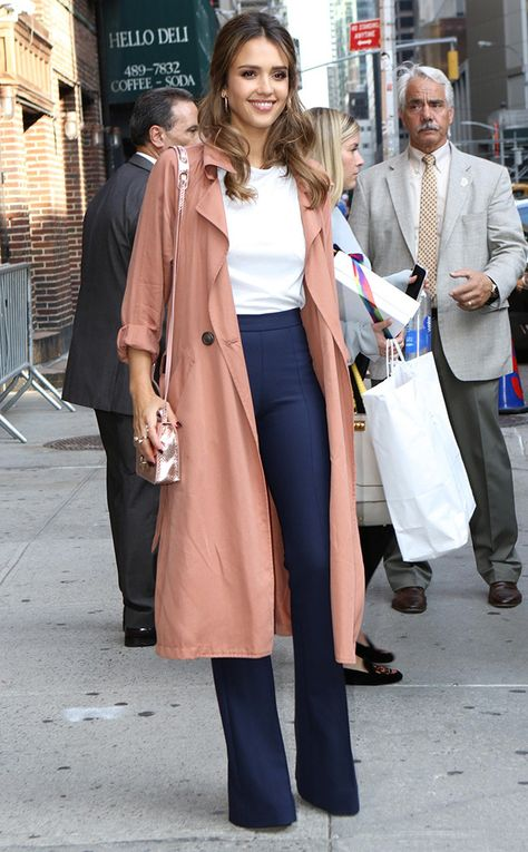 Jessica Alba from The Big Picture: Today's Hot Pics  Stepping out! The mogul shows off her style in New York City.