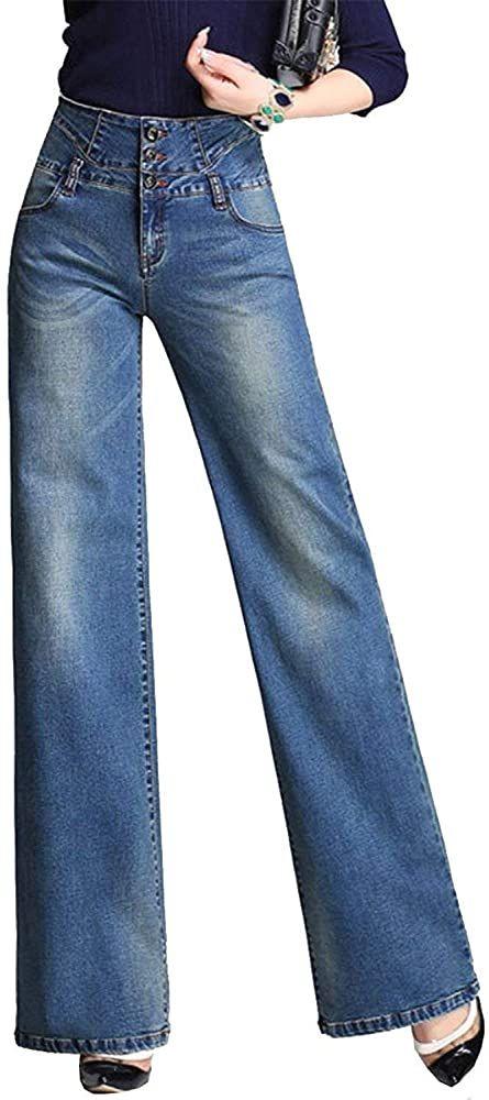 Pantalones Vaqueros Para Mujer Pantalones Sueltos Botonadura Un Ropa Solo Con Bolsillos Pantalones Rectos Y Anchos Pantalone Pantalones Sueltos Ropa Pantalones