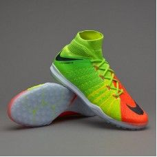 the best attitude d0d71 8f427 Botas De Futbol Nike HypervenomX Proximo II DF TF Verde eléctrico Negro  Hyper Naranja