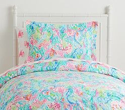 Lilly Pulitzer Party Patchwork Kids Comforter Set Pottery Barn