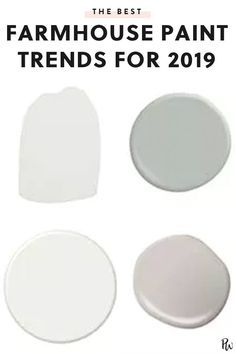 The Best Farmhouse-Style Paint Trends for 2019  #purewow #home #decor #trends #renovation 9/17