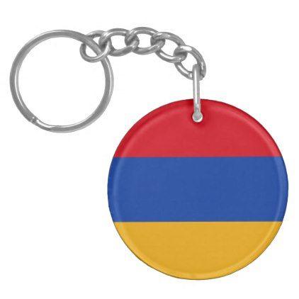 Armenia Flag Heart Keychain