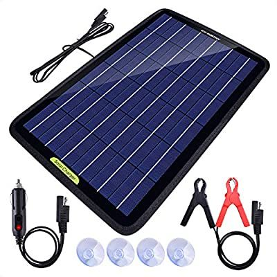 Amazon Com Eco Worthy 12 Volt 10 Watt Solar Battery Charger Maintainer Solar Panel Trickle Charger In 2020 Solar Battery Solar Battery Charger Solar Panel Charger