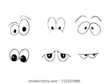 Cartoon Eyes Vector Symbol Icon Design Beautiful Illustration