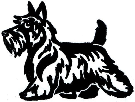 Scottish Terrier Cartoon Clipart