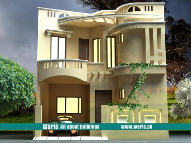 Waris House 3d View Elevation 25x50 In Gujranwala Cantt