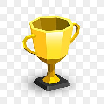 Cartoon Lowpoly Golden Trophy Award Championship Cup Premium Vector Championcup Cup Trophy Png And Vector With Transparent Background For Free Download Trophy Collection Prints For Sale Trophies Awards