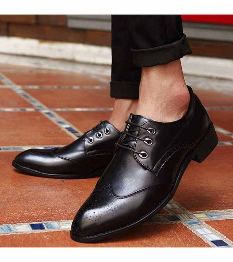 Men/'s Stylish Dress Business Shoes Casual Pointed Toe Formal Office Work Brogues