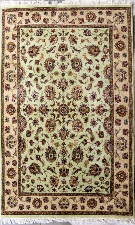 Pistachio Green Mahal Rugs On Carpet Pure Wool Rug Coffee Table Design