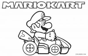Mario Kart Coloring Pages With Images Mario Coloring Pages