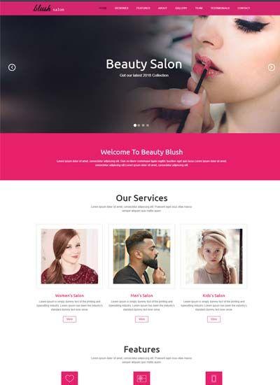 Beauty Salon Responsive Website Template Free Download