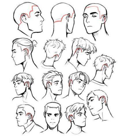 Guy Hair Drawing Best Drawing Cartoon Tutorial Hair Reference Ideas In 2020 Cartoon Tutorial Drawing Male Hair Hair Reference
