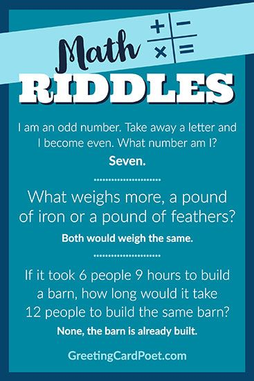 Math Riddles For The Best And Brightest And Those Who Want To Be Math Riddles Math Riddles Brain Teasers Math Riddles With Answers