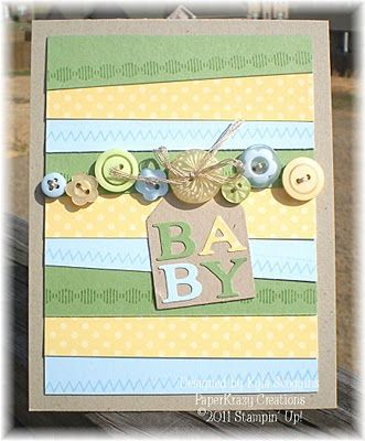Sweet Baby Card...by Kyla Scoggins at PaperKrazy: OhBaby, Baby...Stampin' Up.