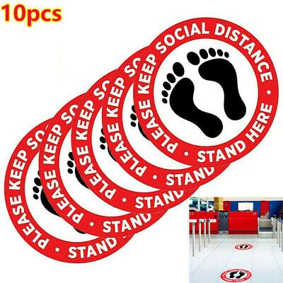 10 20 30 40 50x Social Distancing Floor Decal Sticker Safety Sign Keep Distance In 2020 Floor Stickers Floor Decal Business Signs