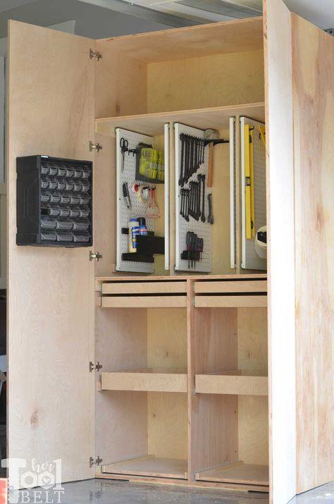 Garage Hand Tool Storage Cabinet Plans Her Tool Belt Rangement Armoire Rangement Outils De Garage