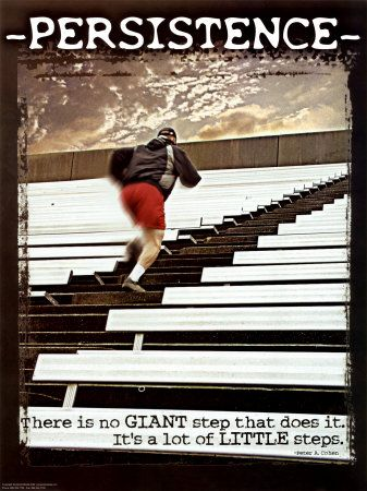 persistance. there is no giant step that does it. It's a lot of little steps.