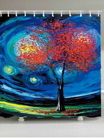 Oil Painting Tree Of Life Shower Curtain Oil Painting Trees