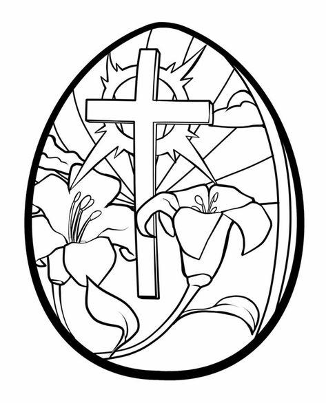 Disegni Da Colorare Gratis Uova Di Pasqua.Croce Fiori Disegni Da Colorare E Stampare Gratis Uovo Pasqua