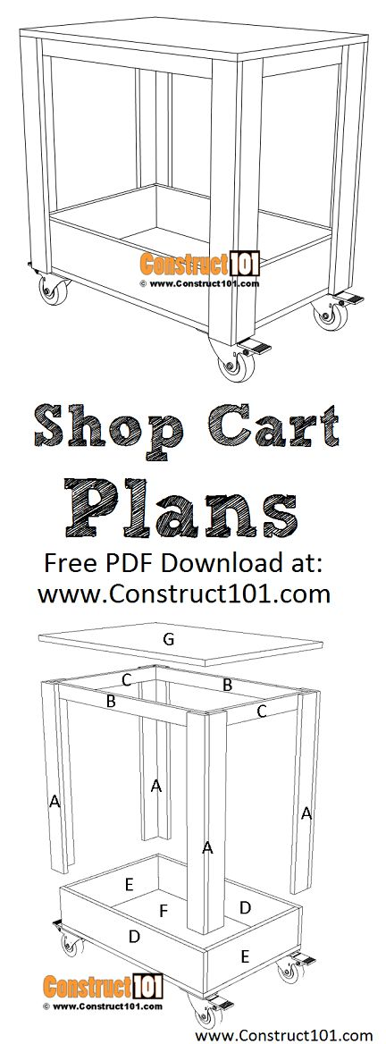 Plywood Shop Cart Plans - PDF Download