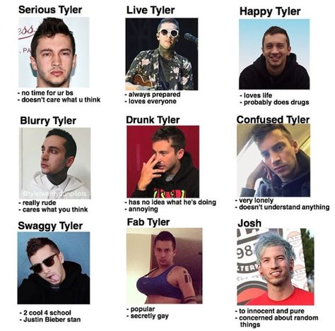 Haha okay Tyler is none of those things but Josh's caption is too accurate. <3 *too