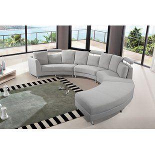 Custom Sectionals You Ll Love Wayfair Fabric Sectional Sofas Sectional Sofa Couch Curved Couch