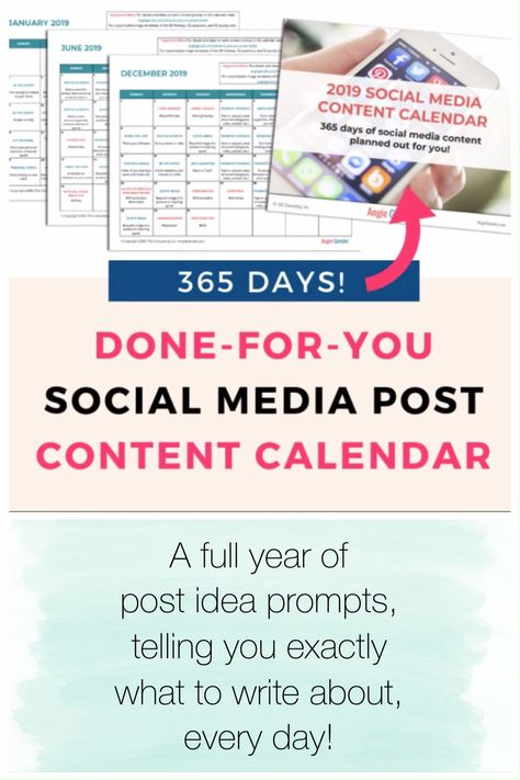 This 365 Day Social Medial Content Calendar has a year of post ideas all planned out! Saves me time and I'm even planning months in advance for next year!