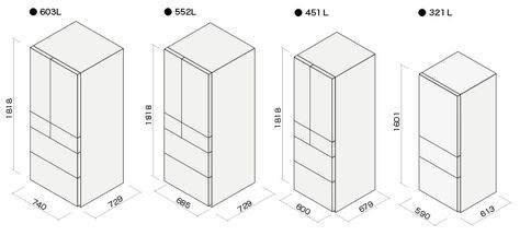 冷蔵庫の寸法図 冷蔵庫 サイズ 冷蔵庫 奥行き 施工図