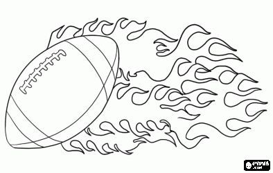 Ball Of American Football Coloring Page Americanfootball American Football Malvorlagen Football Helm