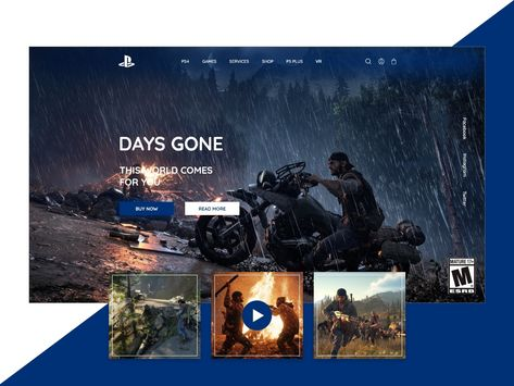 PlayStaion Landing Page