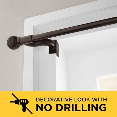 Home In 2020 Hanging Curtain Rods Cheap Curtain Rods Curtains Without Rods