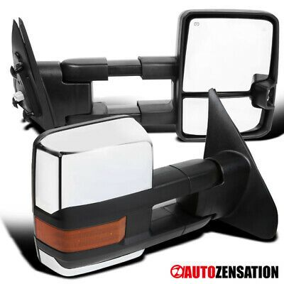 Sponsored Ebay For 2007 2017 Tundra Chrome Tow Mirrors Power Heat Amber Led Signal Blind Spot 2017 Tundra Tundra Blinds