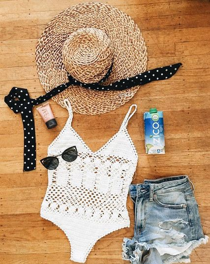 Crochet Cuteness - Chic One-Piece Bathing Suits for Summer 2016 - Photos