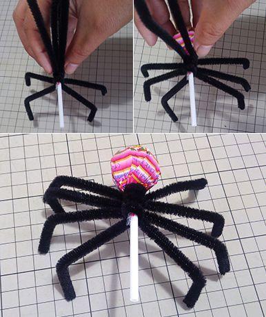 ハロウィン飾りdiy スパイダーキャンディーの作り方 ナベチンの