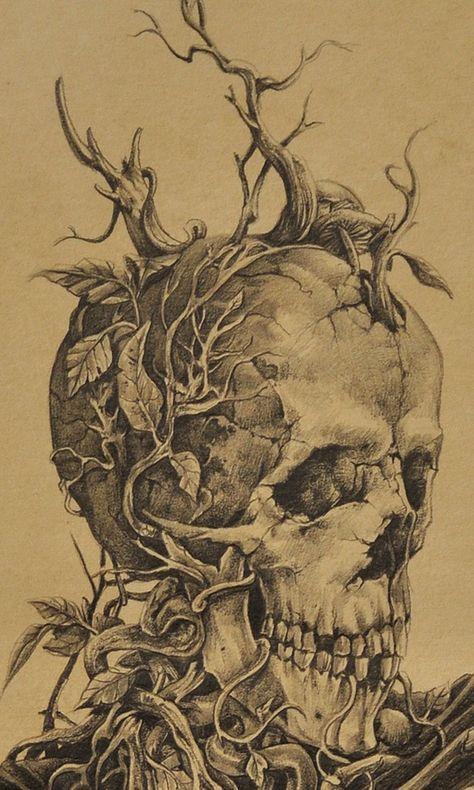 или картинки черепа с деревом подвижный, сообразительный
