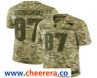 Men S New England Patriots 87 Rob Gronkowski 2018 Camo Salute To Service Stitched Nfl Nike Limited Jersey Camo Jersey Chicago Bears Jersey Nfl Jerseys