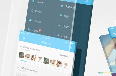 Free Iphone App Mockups Mobile App Design App Design Free Iphone