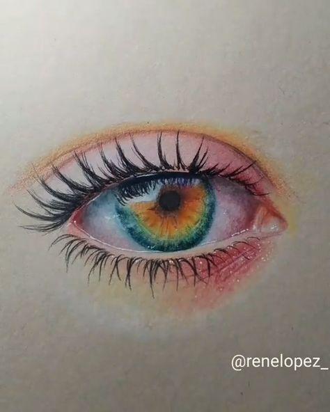 Amazing eye drawing by Rene Lopez (@renelopez_